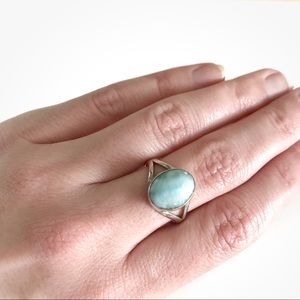 Jewelry - Larimar and sterling silver ring